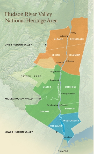 Hudson River Valley Map